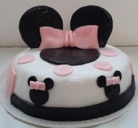 torta pasta di zucchero minnie
