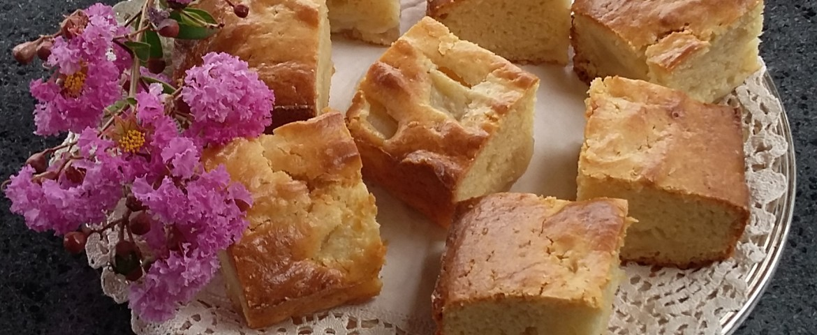 blondies alle pere - ricetta