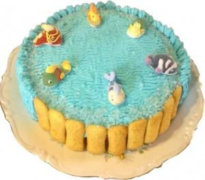 torta con panna, tema nemo