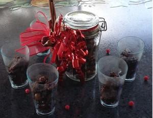 bicchierini di frutta secca