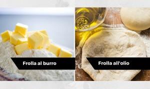 pasta frolla all'olio o pasta frolla al burro