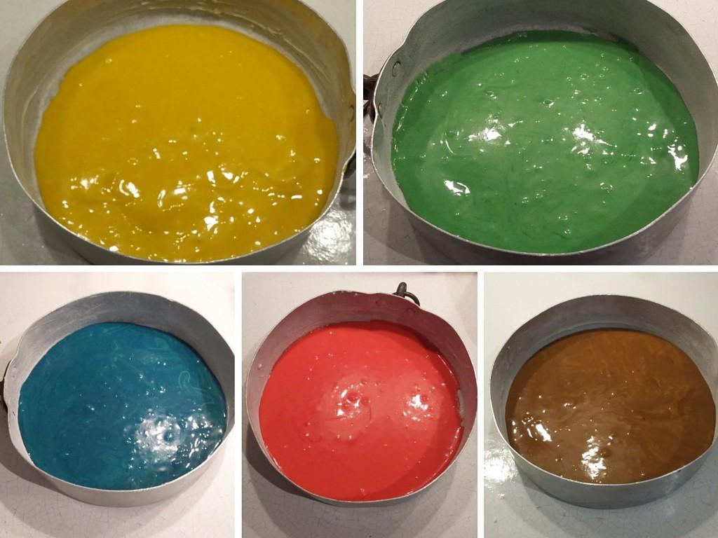 pan di spagna torta arcobaleno da cuocere