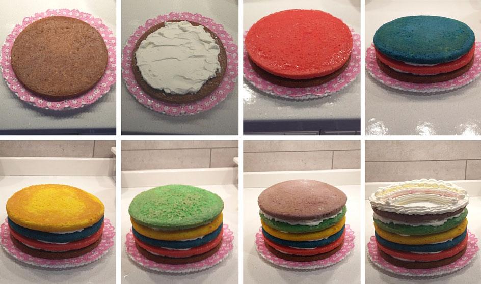 ricetta passo passo torta arcobaleno